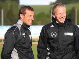 Martin Grelics mit Markus Weinzierl während einer Trainingseinheit bei der FA Peiting