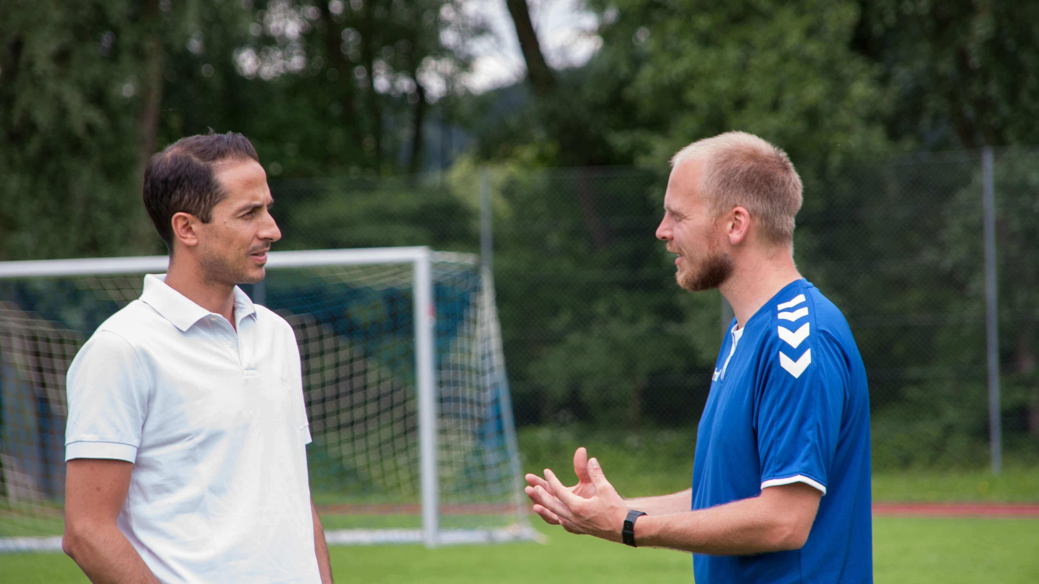 Salvatore Scolaro und Martin Grelics, die Gründer der Alpenkick Fussballschule