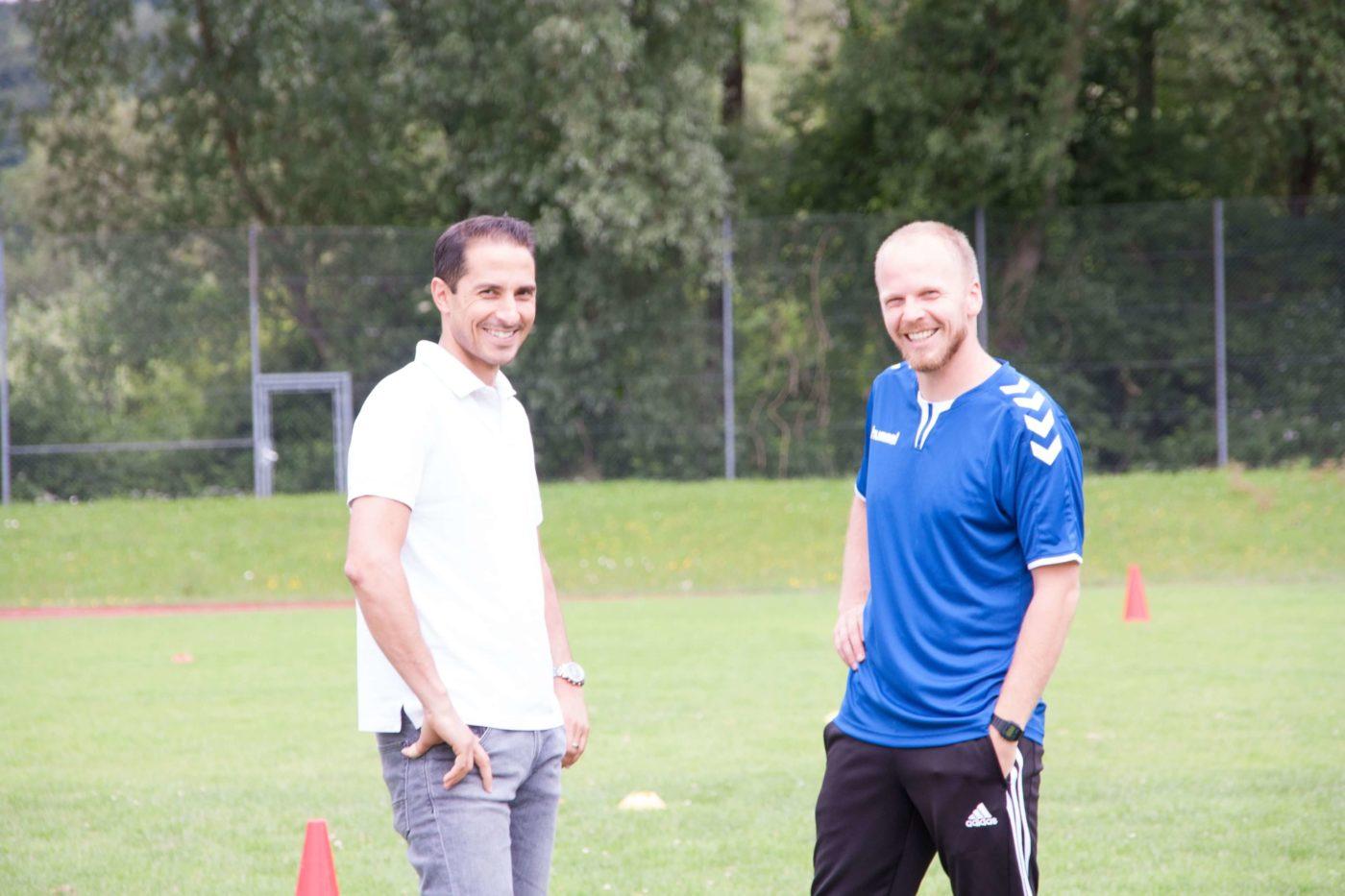Salvatore Scolaro und Martin Grelics, Gründer der Alpenkick Fussballschule